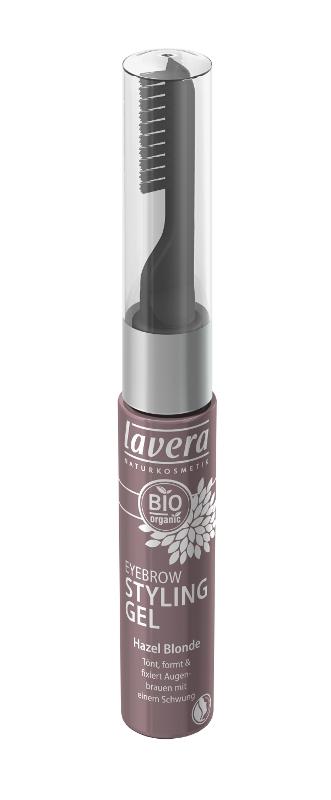 lavera Stylingový pečující gel na řasy a obočí - světle oříšková 9 ml