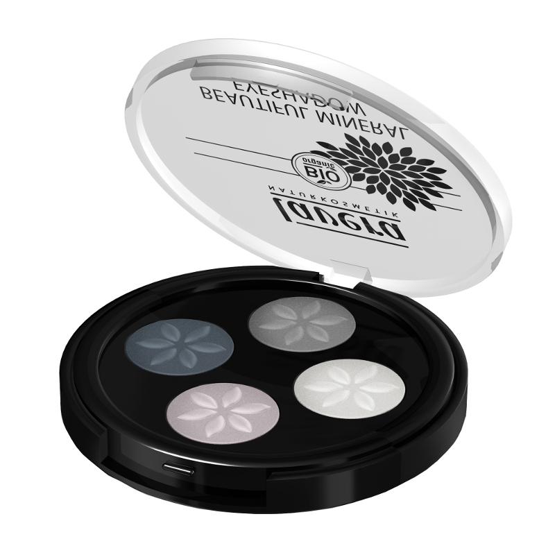 lavera Minerální oční stíny QUATRO - 01 kouřová šedá 3,2 g