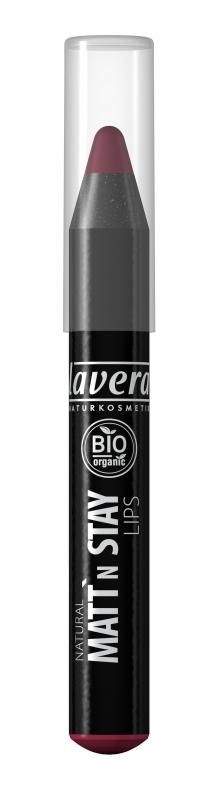 lavera Matující dlouhotrvající rtěnka - 04 švestková 3,1 g