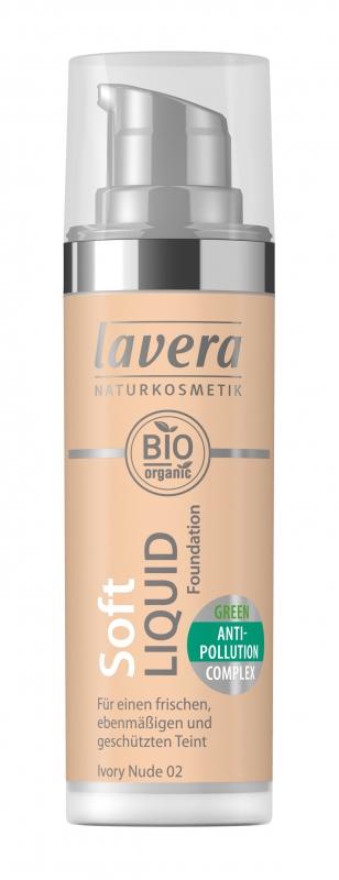 lavera Lehký tekutý make-up - 02 písková 30 ml
