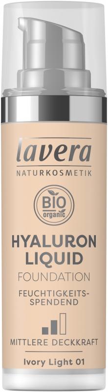 lavera Lehký tekutý make-up s kyselinou hyaluronovou - 01 porcelánová 30 ml
