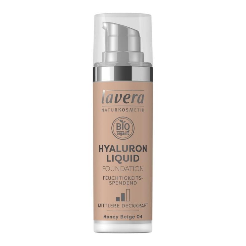 lavera Lehký tekutý make-up s kyselinou hyaluronovou - 04 béžová 30 ml