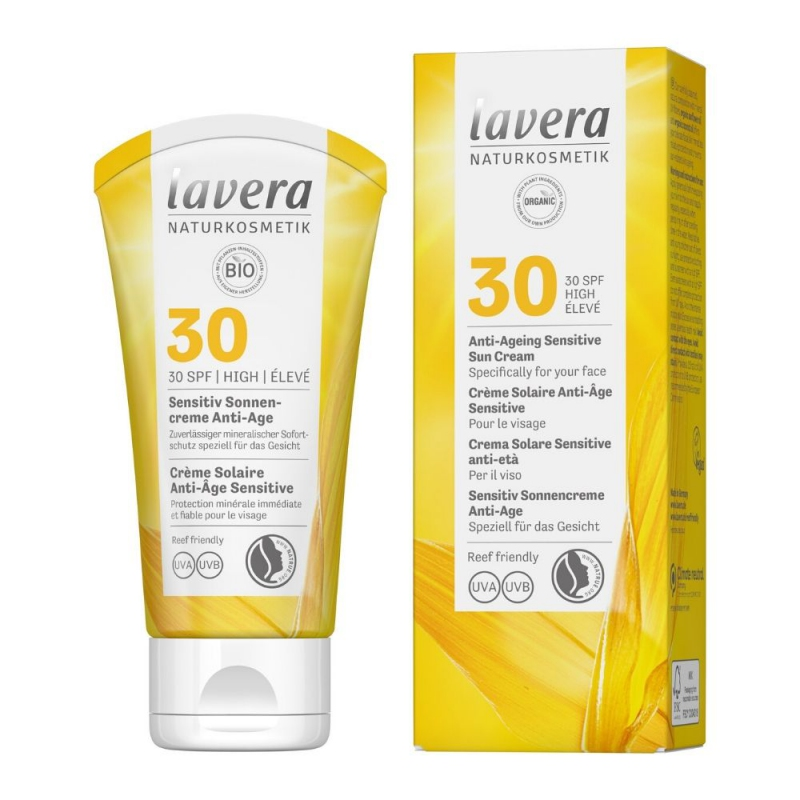 lavera Opalovací krém Sensitiv SPF 30 Anti-Ageing 50 ml